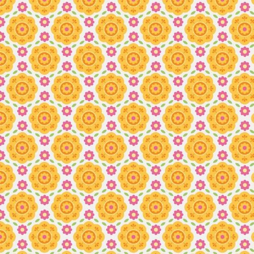 Riley Blake - Summer Song 2 Floral (Yellow) Fabric